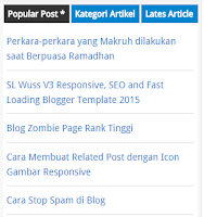 Cara Membuat Tabbed Widget di Sidebar Blog