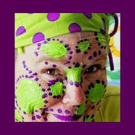 Purple polka dots!  Woo-hoo