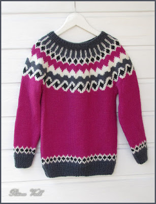 Knitted Icelandic Sweater For Girl
