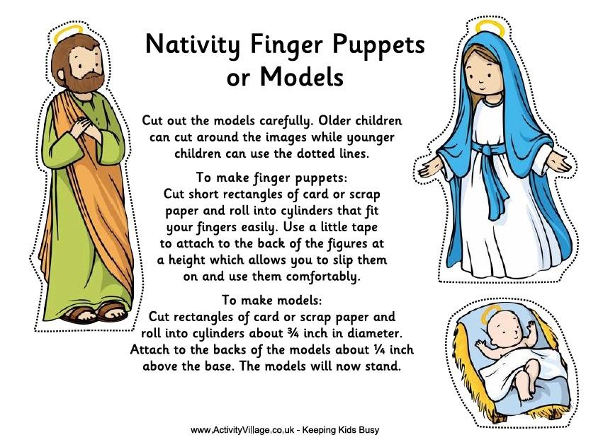 Nativity Finger Puppets Template | New Calendar Template Site