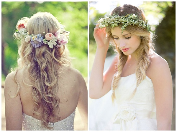 Tendencias :diademas y tocados con flores