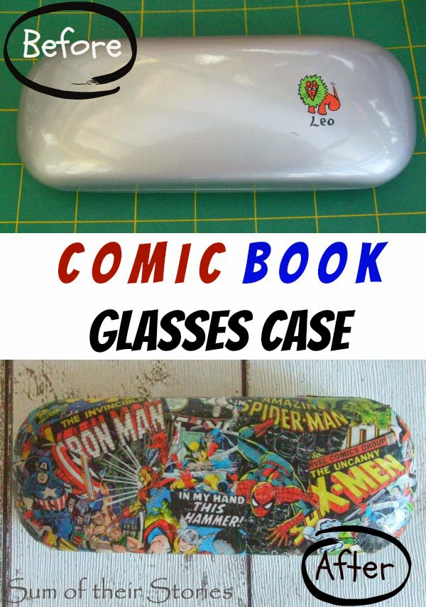 DIY comic book spectacle case