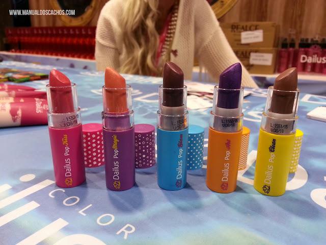 Nova coleção de batons Pop Glam, Pop Clean, Pop Art, Pop Kiss e Pop Magic da Dailus