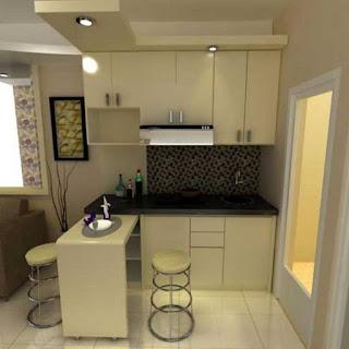 Desain kitchen set model mungil terbaru