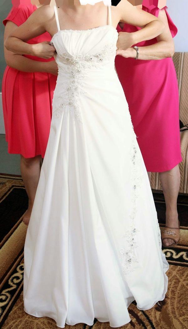 Suknie ślubne Vestido Suknia ślubna O Kroju Litery A Z Muślinu