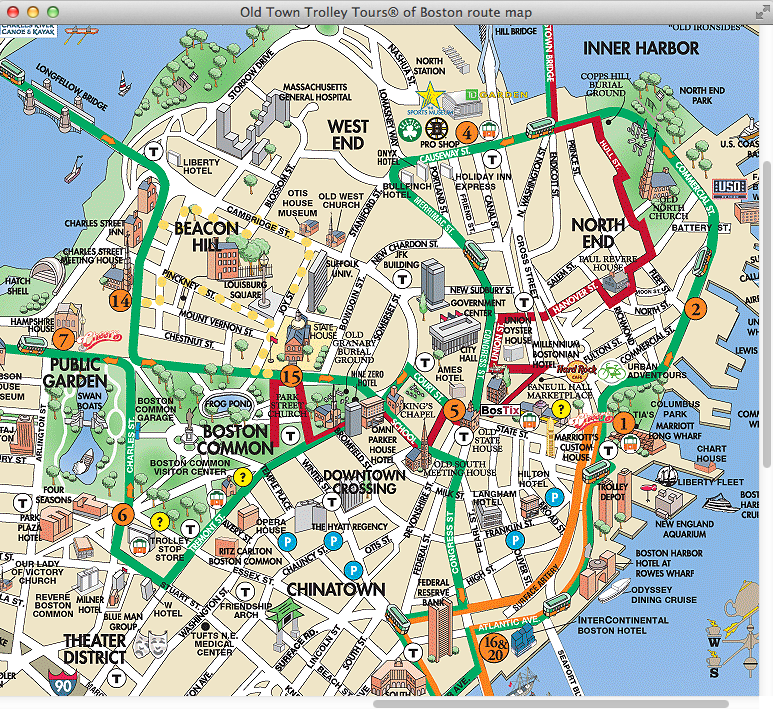 The Roadrunner Chronicles Northeast Trip Boston – Boston Map Tourist