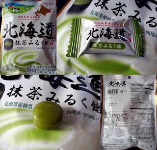 Mleczne karmelki o smaku herbaty matcha