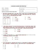 soal Ulangan harian Matematika SMA