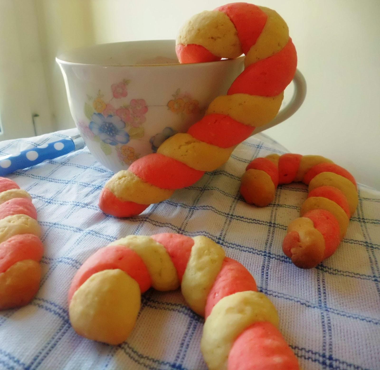 candy cane cookies - #idea per la colazione di natale