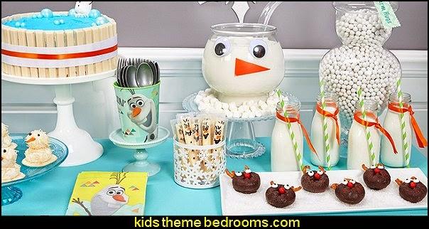 olaf party food decorating ideas