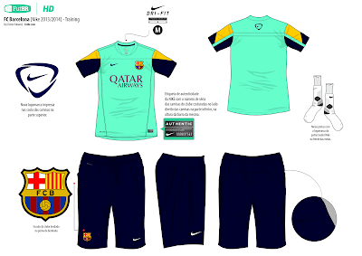 FutBR [Image] - Full HD: FC Barcelona [Nike 2013/2014] - Training
