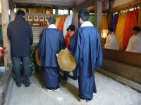 氏子で15歳の男子を対象に元服、「成人の儀式」を祝う、成人祭が上賀茂神社と摂社大田神社で営まれた。