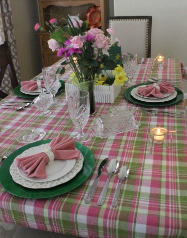 Welcoming Spring Tablescape