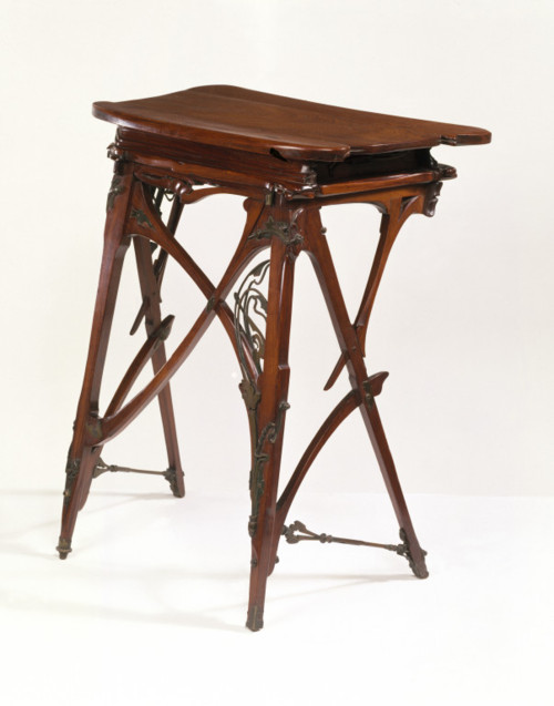 Desk, ca. 1895 Hector  Guimard Carved rosewood, with mounts of wrought brass