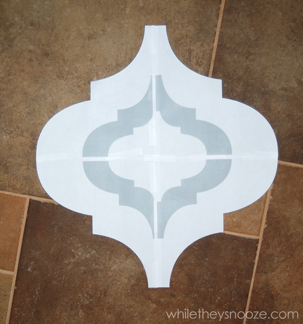 Diy wall stencils free : While they snooze diy moroccan style wall stencil tutorial