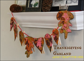 Thanksgiving Crafts for Kids: Easy Garland Craft