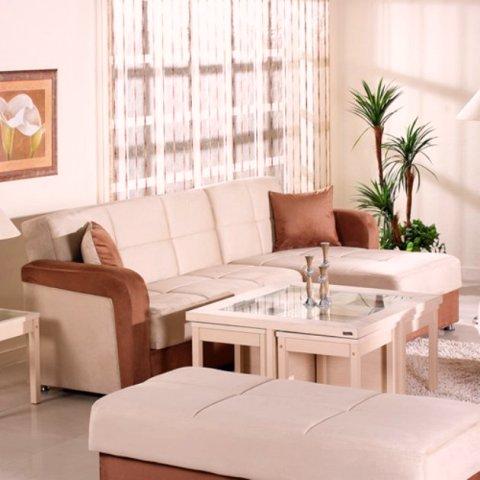 Modern living room furniture vision convertible sectional sofa modern living room furniture for Convertible living room furniture