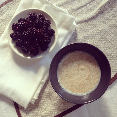 porridge amarante mûres