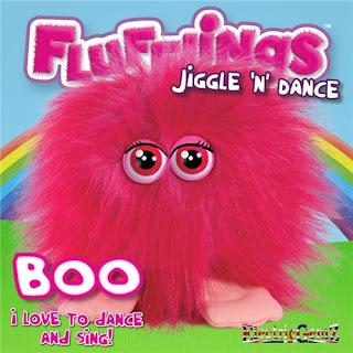 Flufflings Plush Jiggle n and Dance Talking Pink Fluffling Boo Soft Toy