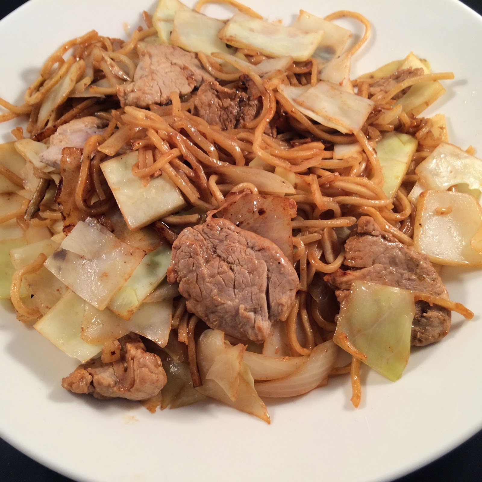 stir-fry noodles, E-Fu, Yee-Fu, recipe, pork, cabbage, noodles