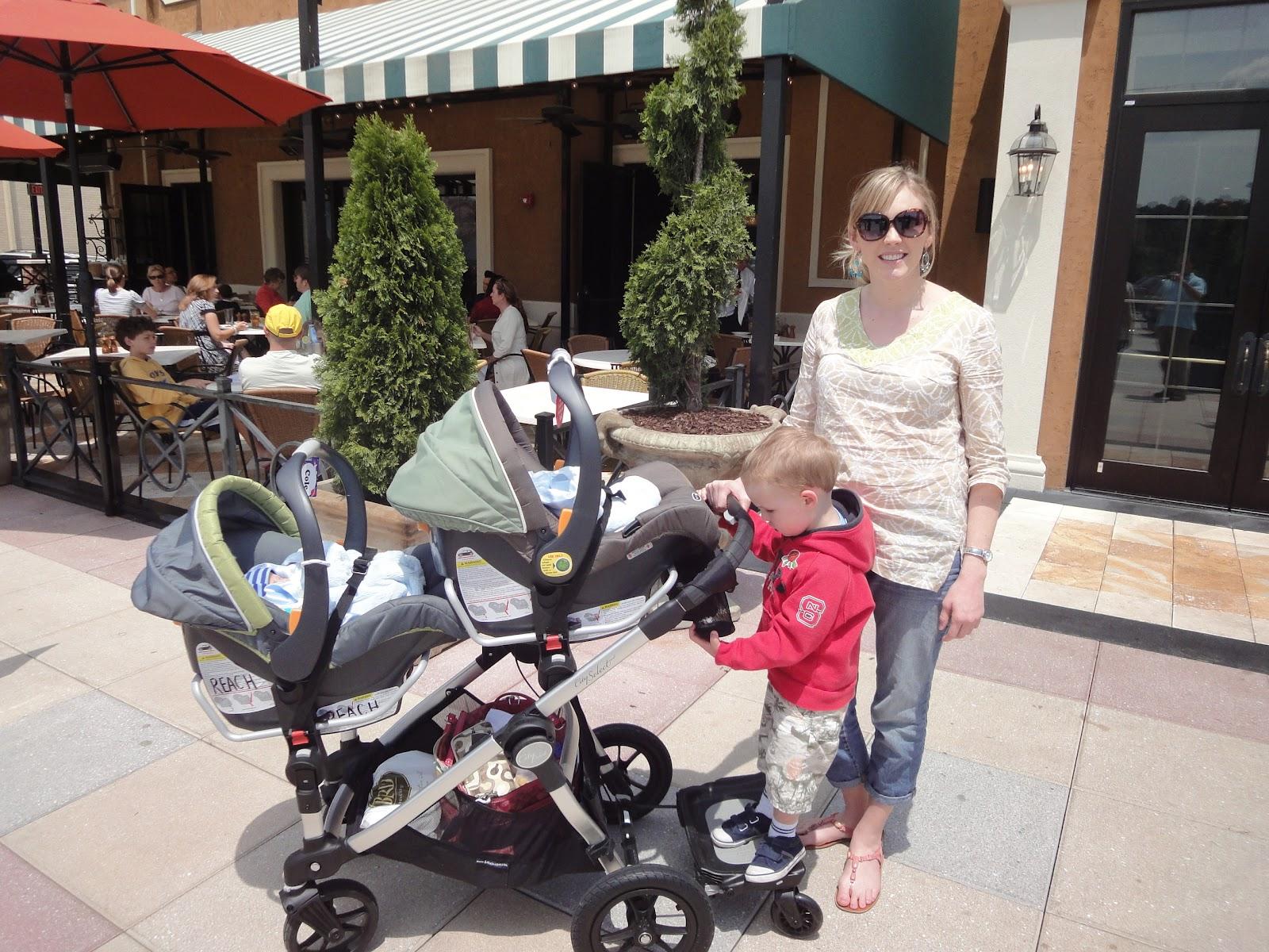 Using The Car Seat Adaptors And Glider Board D Was 2 A Half When Babies Were Born North Carolina May 2017
