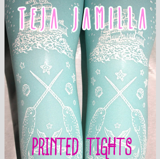 Printed Tights by Teja Jamilla
