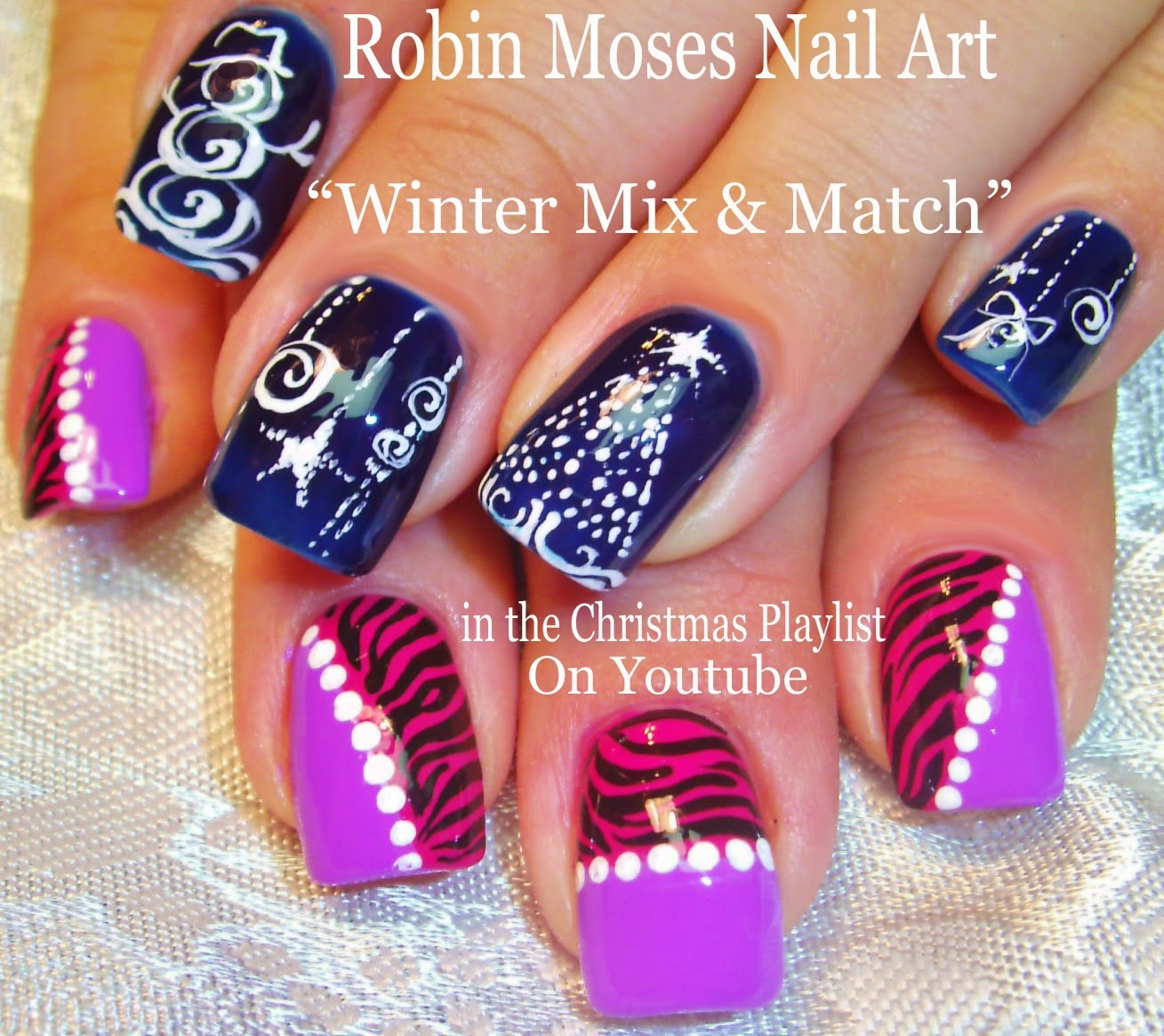 Nail Art By Robin Moses Christmas Nail Art Christmas Designs
