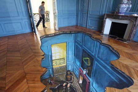 pintura 3d em um quarto