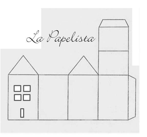 La papelista le blog ma maison est en carton - Patron de maison en papier a imprimer ...