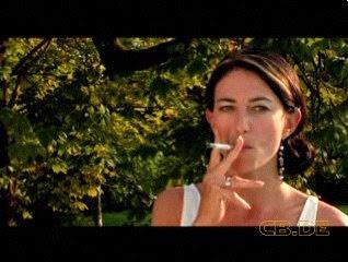 Claudia Black Smoking