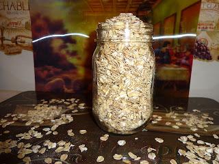 dry oats in jar