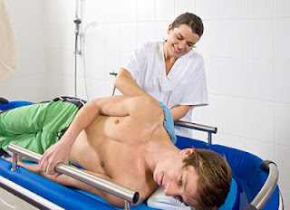 Nursing with the Shower Bathing Trolley