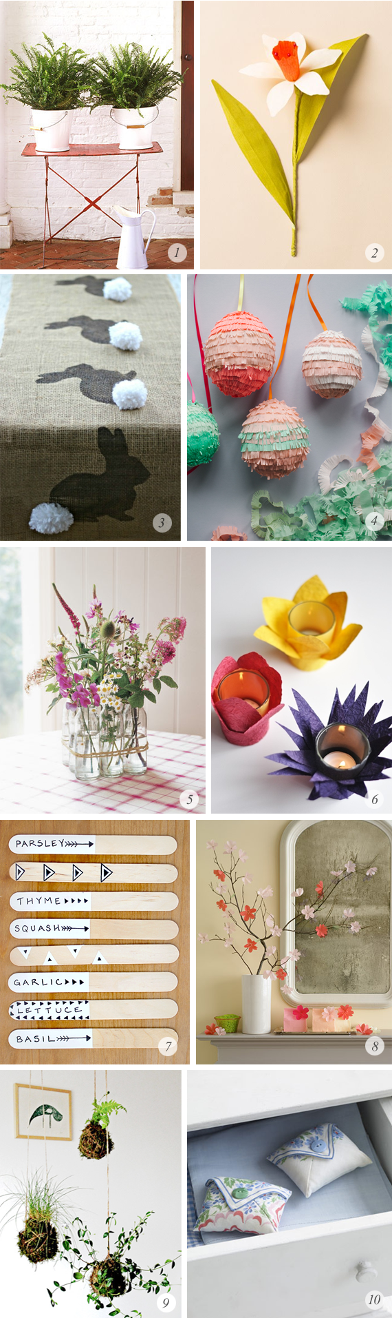 10 Great Spring Inspired DIY Projects // Bubby and Bean