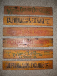 antique fruit labels...SOLD