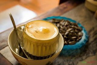 Vietnamse egg coffee (Ca phe trung)