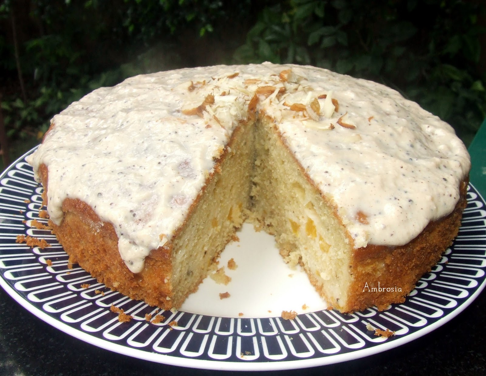 AMBROSIA: Peach Yogurt Cake With Cinnamon Glaze