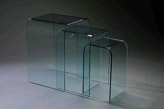Glass tables, Decoration and Design