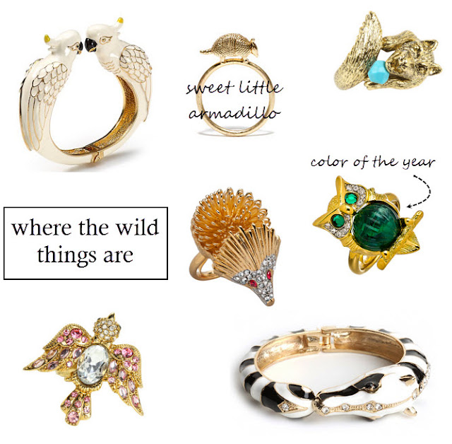 animal ring, owl ring, emerald ring, zebra bracelet, bird ring