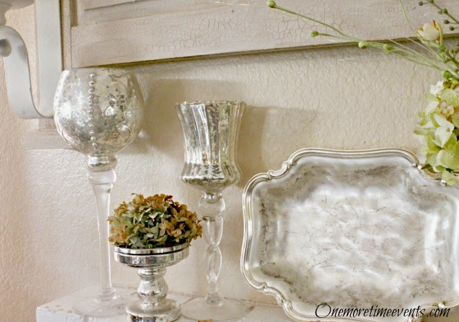 Decorating for Fall using Mercury Goblet Candle  stick Holders at One More Time Events.com