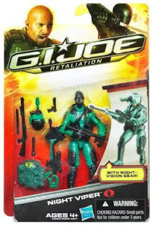 Hasbro GI Joe Retaliation Night Viper Figure