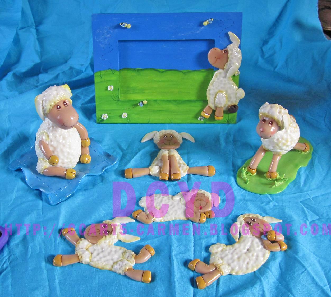 Decobaby nuevo decoracion de ovejitas en porcelana fria for Tablero del deco del sitio del bebe