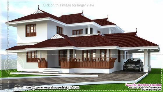 kerala home design thumb 241 square meter 4 bedroom Kerala style house