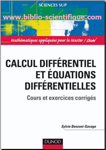 Livre : Calcul différentiel et équations différentielles - Cours et exercices corrigés