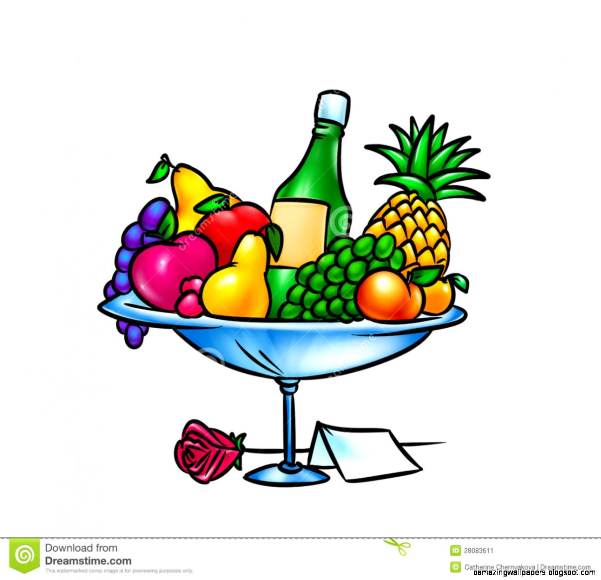 Bowl Of Fruit Drawing Stock Image   Image 11535141