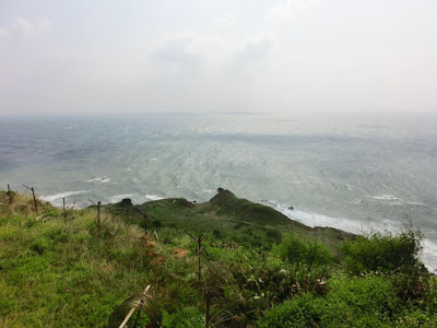 Top of Green Grassland Plain at Penghu Island Taiwan