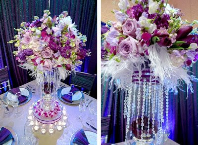 Crystal Wedding Table Decoration With Flowers
