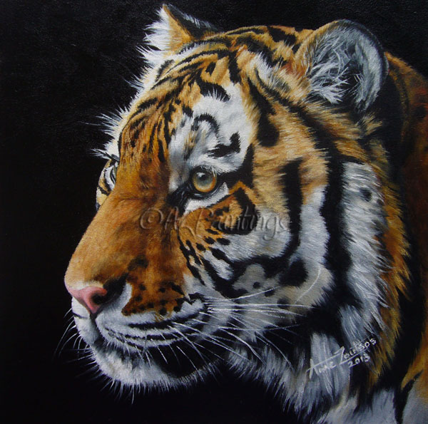 AZPAINTINGS : Tiger oil painting commission