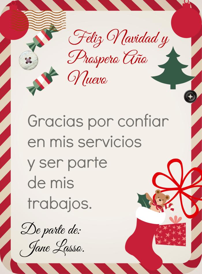 Agradecimiento por navidad