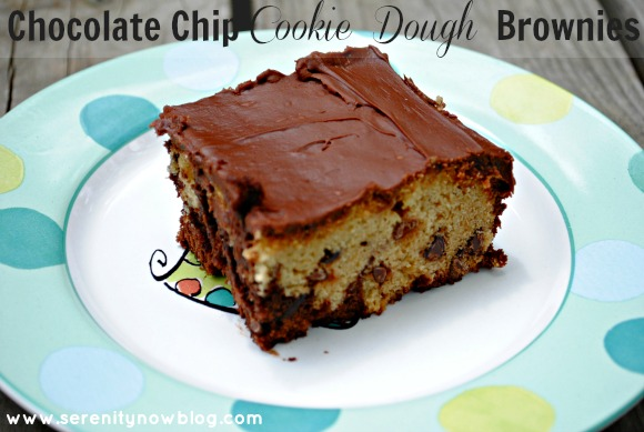 Chocolate Chip Cookie Dough Brownies, from Serenity Now