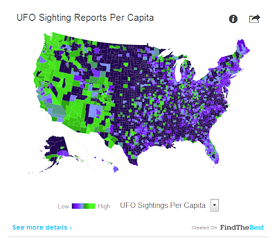 Looking For UFOs? This Map Might Drive You Crazy!